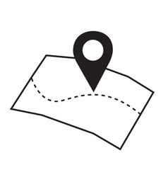 Pinpoint on map icon geolocation navigation vector