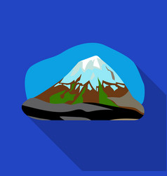 Popocatepetl icon in flat style isolated on white vector