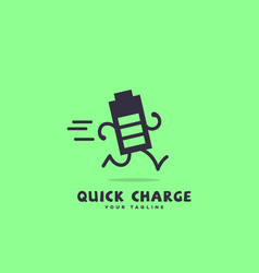 quick charge vector image