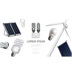 realistic eco energy elements concept vector image