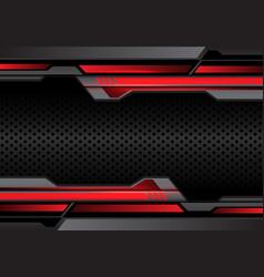 Red light dark gray futuristic on circle mesh vector