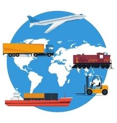 Round concept logistics transportation vector