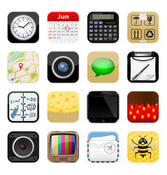 set apps icons vector image