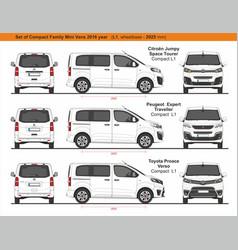 Set compact l1 family mini vans 2016 vector