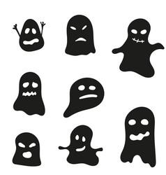 set halloween ghosts vector image