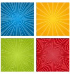 set rays vector image
