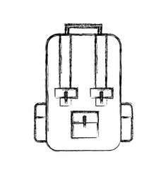 Sketch draw travel backpack cartoon vector