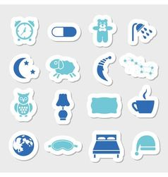 Sleep stickers vector