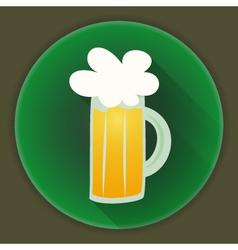 St Patrick Day beer glass mug icon vector