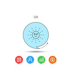 sun rays icon summer sign vector image
