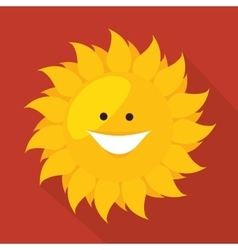 Sun smiling cartoon vector