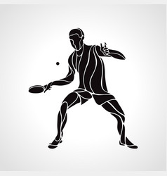 Table tennis male player with racket overhead eps vector