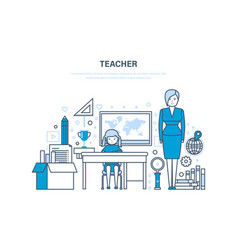 teacher concept corporate training education for vector image