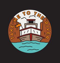 vintage adventure emblem design vector image
