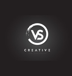 vs circular letter logo with circle brush design vector image