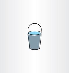 Water bucket icon design vector