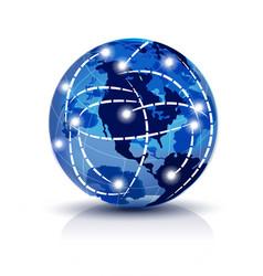 worldwide trading network icon vector image