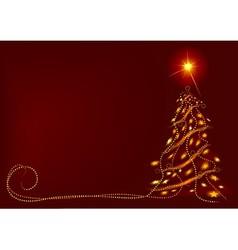 Abstract christmas tree vector