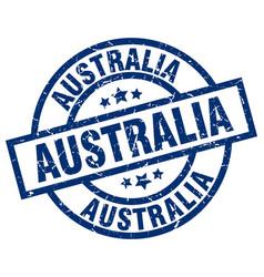 Australia blue round grunge stamp vector