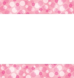 Bokeh Frame Decoration vector image vector image