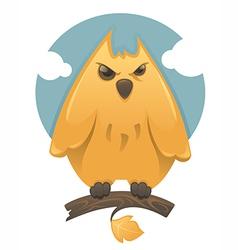 Cartoon glossy owl vector