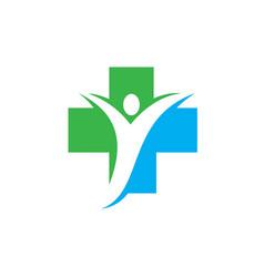 cross people bio ecology logo image vector image