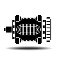 electric motor icon vector image