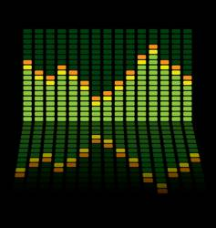 graphic equalizer reflect vector image