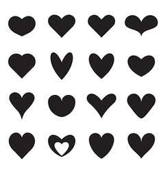 Heart symbol shapes vector image