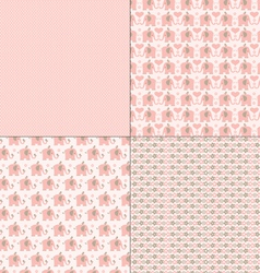 pink elephant patterns vector image