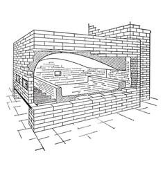 reverbatory furnace vintage vector image vector image