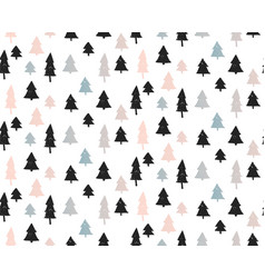 Seamless christmas background with cute christmas vector