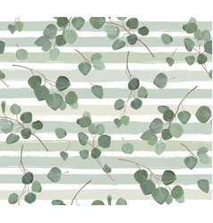 seamless pattern of eucalyptus silver dollar tree vector image vector image