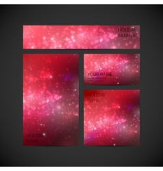 set of visual corporate identity with red holiday vector image vector image