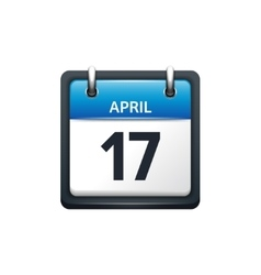 April 17 Calendar icon flat vector image vector image