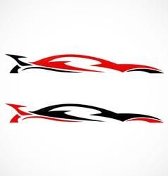 car abstract automotive logo vector image