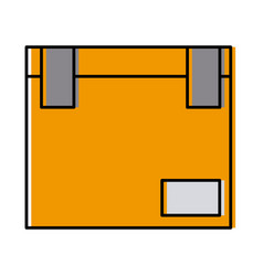closed cardboard box cargo delivery pack vector image