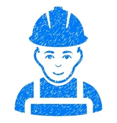 Glad Worker Grainy Texture Icon vector image vector image