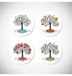 Tree seasons vector image