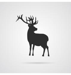 Gray Silhouette of Deer vector image
