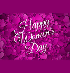 happy womens day abstract background vector image vector image