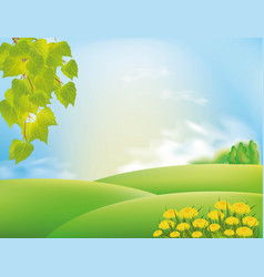 nature landscape with sky and clouds vector image