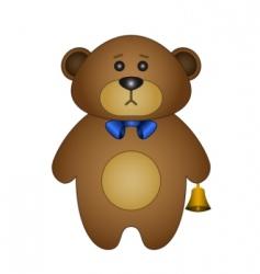 teddy bear a tilde vector image