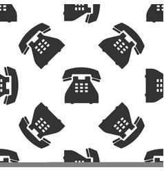 telephone icon seamless pattern landline phone vector image