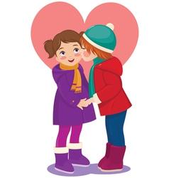 Children in love vector image vector image