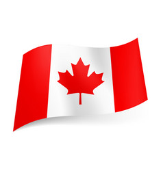 national flag of canada red and white vertical vector image vector image