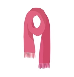 Red Knitted Scarf Isolated on White Background vector image vector image