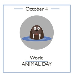 World Animal Day vector image vector image