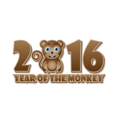 2016 year monkey chinese new year animal vector image