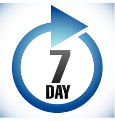 7 day turnaround time tat icon interval for vector